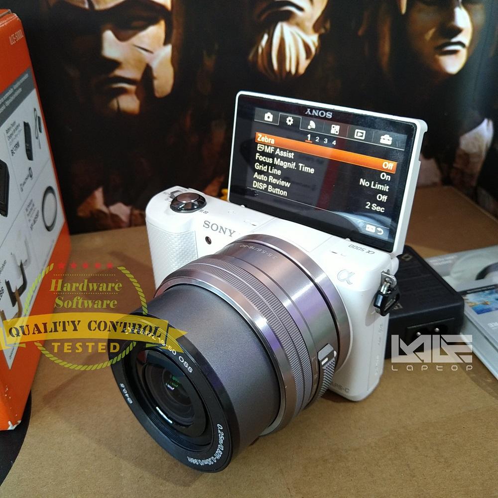 Sony alpha 5000 + Lensa 16-50mm fullset istimewa