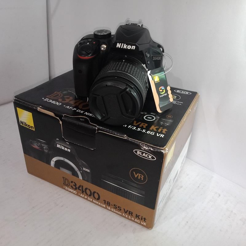 Kamera DLSR Nikon D3400 like new.